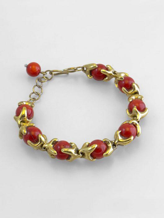 браслет с красной яшмой
