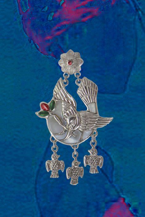 Ювелирные серьги ручной работы из серебра и золота