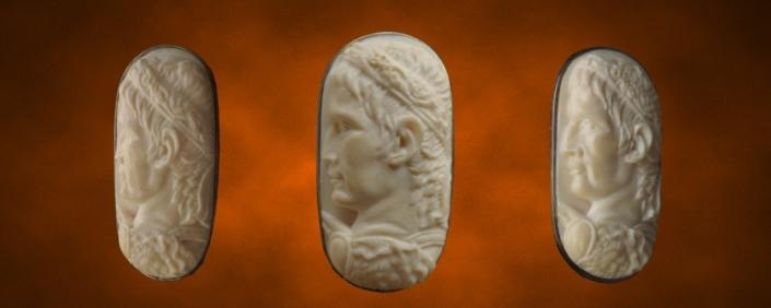 портрет Александра, художественная резьба по кости