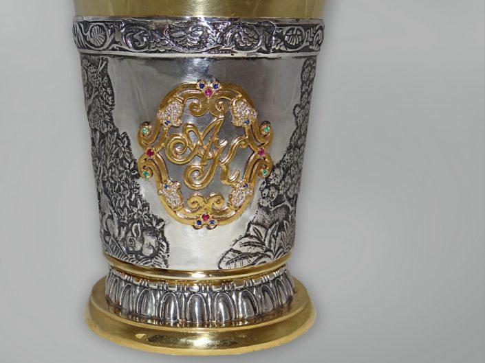 художественное столовое серебро
