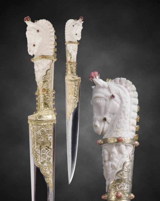 Авторское холодное оружие: нож парадный в ножнах Воспоминания о Персии