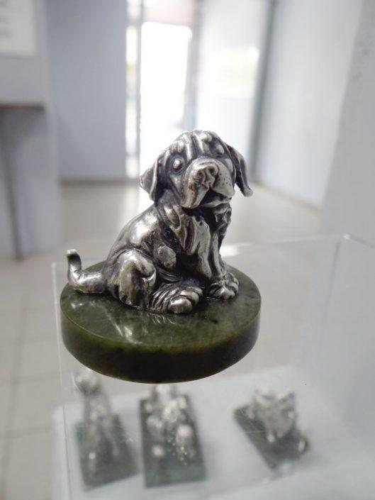 скульптура малой пластики из серебра