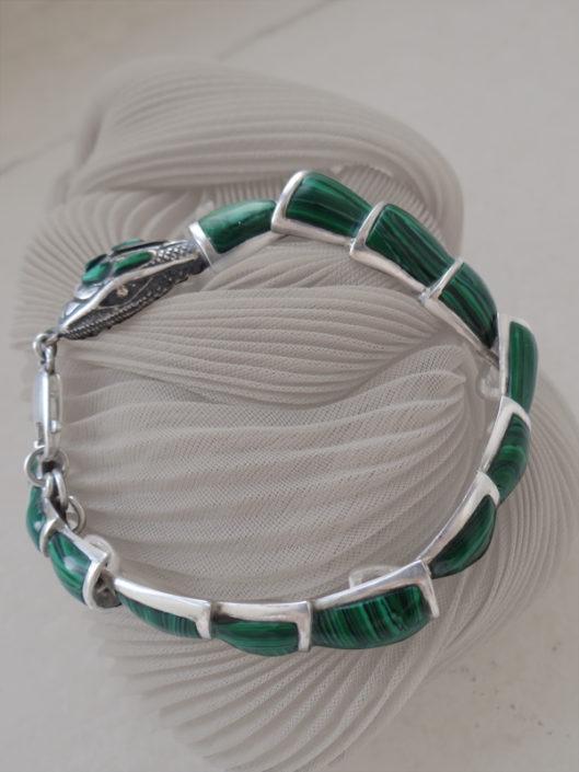 jewellery malachite snake bracelet