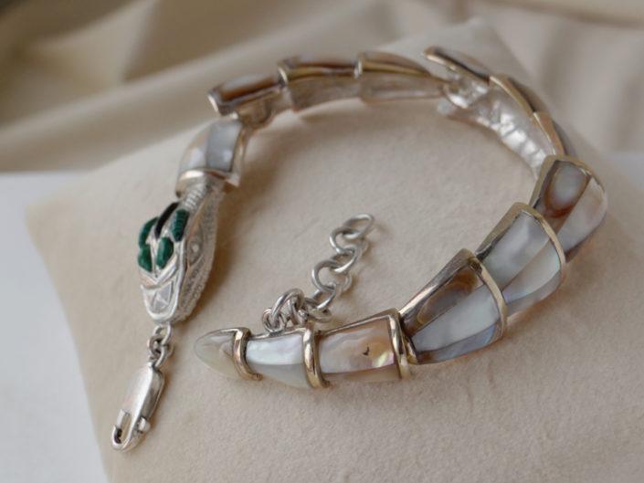 jewellery pearl snake bracelet